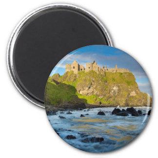 Coastal Dunluce castle, Ireland 2 Inch Round Magnet