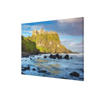 Coastal Dunluce castle, Ireland Canvas Print
