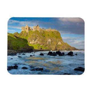 Coastal Dunluce castle, Ireland Rectangular Photo Magnet