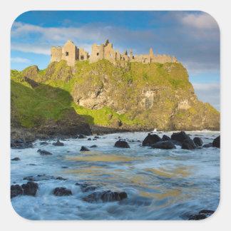 Coastal Dunluce castle, Ireland Square Sticker