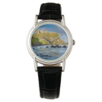 Coastal Dunluce castle, Ireland Wrist Watch