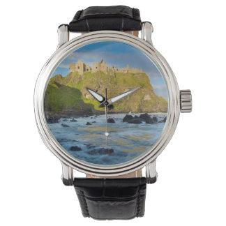 Coastal Dunluce castle, Ireland Wristwatch
