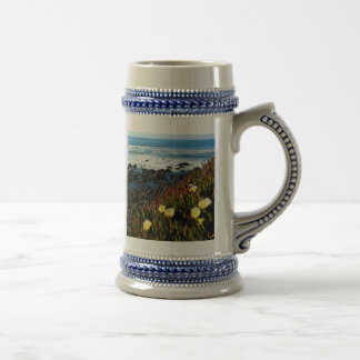 Coastal Flowers Beer Stein