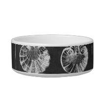 coastal french botanical art chalkboard seashells bowl