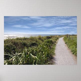 coastal gravel cliff path poster