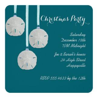 Coastal Holiday House Party Teal Invitation
