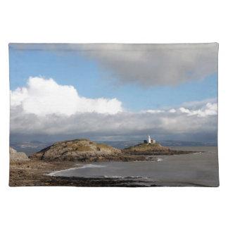 Coastal landscape and lighthouse placemat