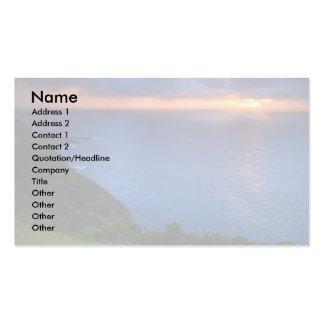 Coastal landscape business card templates