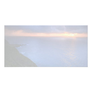 Coastal landscape card