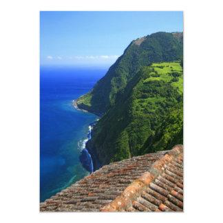 Coastal landscape in Azores Card