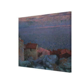 Coastal Landscape (oil on canvas) Canvas Print