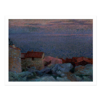 Coastal Landscape (oil on canvas) Postcard