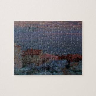 Coastal Landscape oil on canvas Puzzle