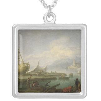 Coastal Landscape Silver Plated Necklace