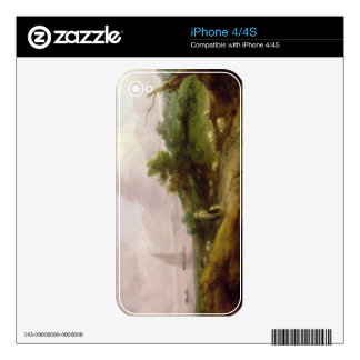 Coastal Landscape with a Shepherd and his Flock, c Decals For iPhone 4