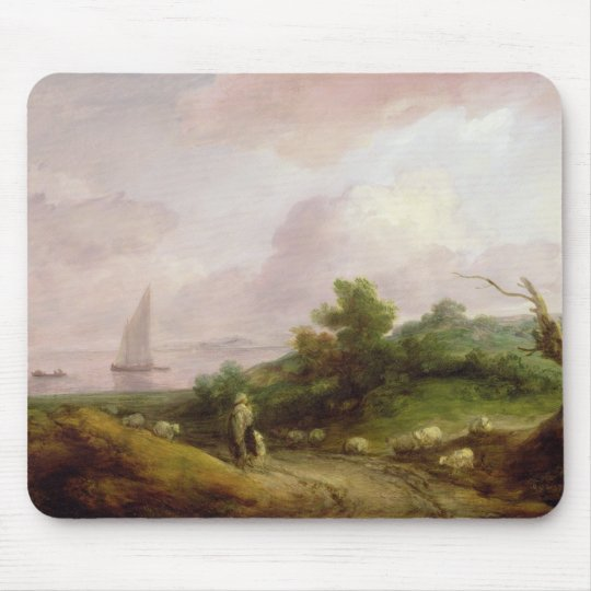 Coastal Landscape with a Shepherd and his Flock, c Mouse Pad