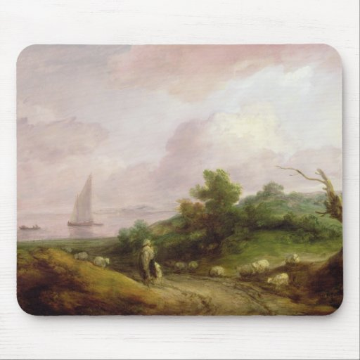 Coastal Landscape with a Shepherd and his Flock, c Mousepad