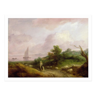 Coastal Landscape with a Shepherd and his Flock, c Postcard