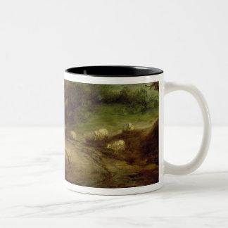 Coastal Landscape with a Shepherd and his Flock, c Two-Tone Coffee Mug