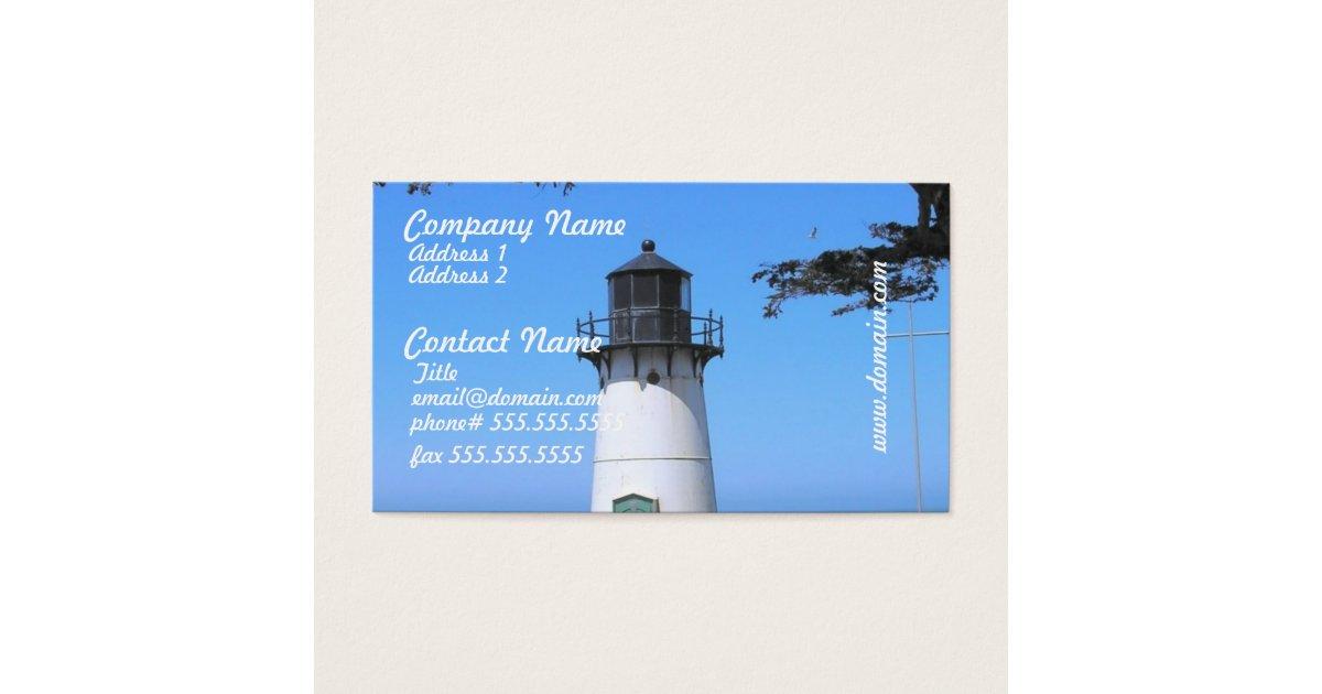 Coastal Lighthouse Business Cards | Zazzle.com