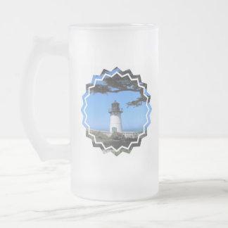 Coastal Lighthouse  Frosted Beer Mug