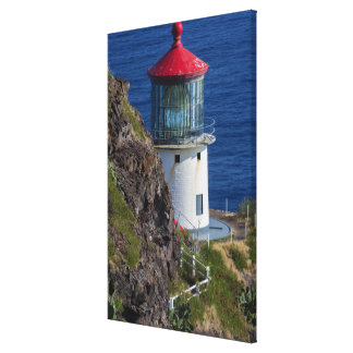 Coastal lighthouse, Hawaii Canvas Print