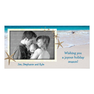 Coastal Living Ocean Family Holiday Photo Card