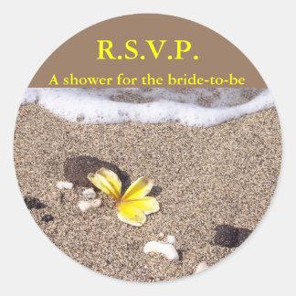 Coastal Location RSVP Classic Round Sticker