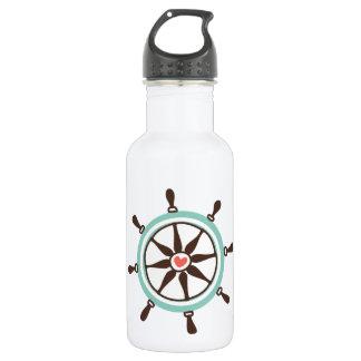 Coastal Love Boat Helm 18oz Water Bottle