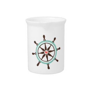 Coastal Love Boat Helm Drink Pitchers