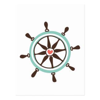 Coastal Love Boat Helm Postcard