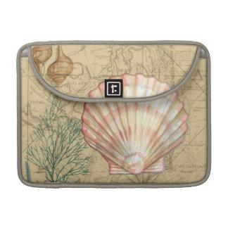 Coastal Map Collage MacBook Pro Sleeve