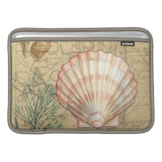 Coastal Map Collage Sleeve For MacBook Air