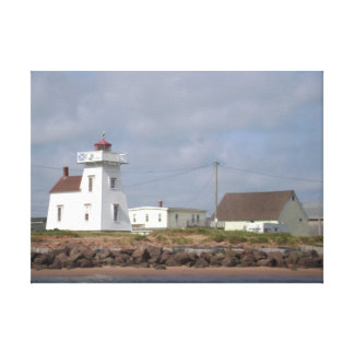 Coastal Maritime Lighthouse Wrapped Canvas Photo