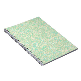 Coastal Mint Green Vintage French Scrollwork Notebook