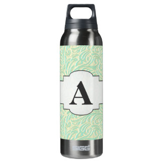 Coastal Mint Green Vintage French Scrollwork SIGG Thermo 0.5L Insulated Bottle