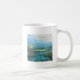 Coastal Mountain Coffee Mug Basic White Mug