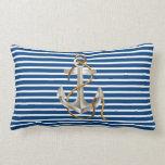 Coastal Nautical Lumbar Anchor pillow