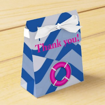 Beach Themed Coastal nautical ocean beach pink girly favor box