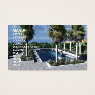 Coastal Oasis: Day Business Card Template