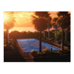 Coastal Oasis: Evening Postcard