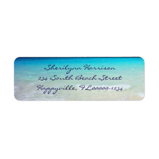 Coastal Ocean Living Script Return Address Label