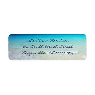 millhill Coastal Ocean Living Script Return Address Label