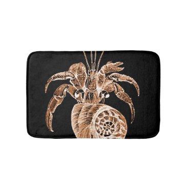 Beach Themed Coastal ocean sea beach black bath mats