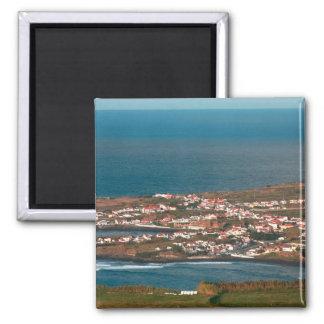 Coastal parish in Azores 2 Inch Square Magnet