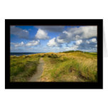 Coastal path greeting card