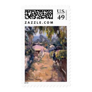 Coastal Pathway Postage Stamp