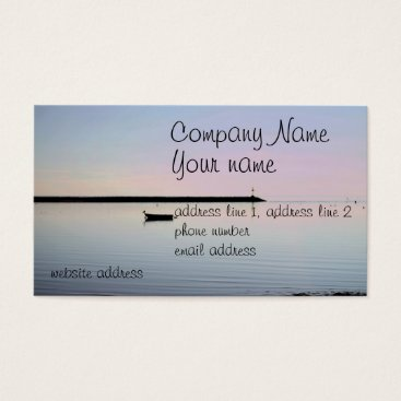 Beach Themed Coastal photo business card
