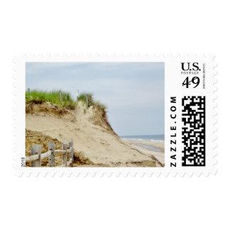 Coastal photo postage stamp