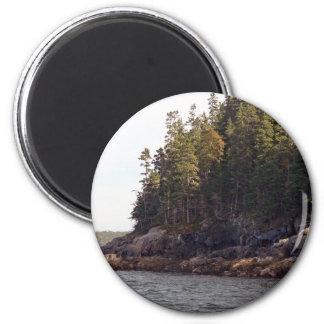 Coastal Pines 2 Inch Round Magnet